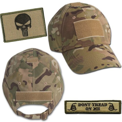 Punisher Tactical Hat & Patch Bundle (2 Patches + Hat) - Multicam