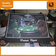 Promotional high quality table runner with dye sublimation printing outdoor fence advertising fabric banner