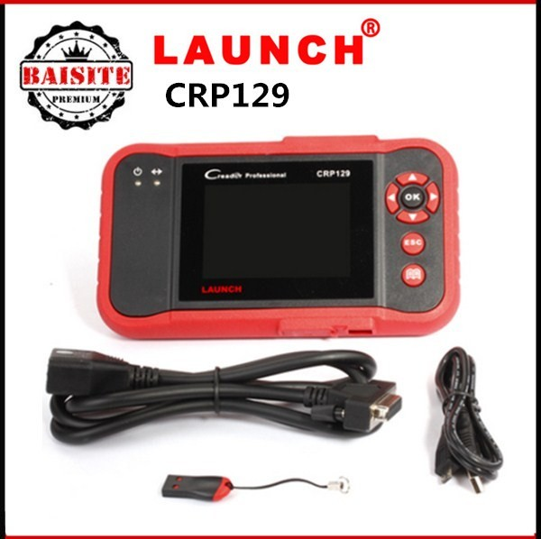 Auto Code scanner original Launch X431 Creader CRP129 OBDII/EOBD Code Reader Support 4 System Launch CRP 129 Oil Lamp Reset Tool
