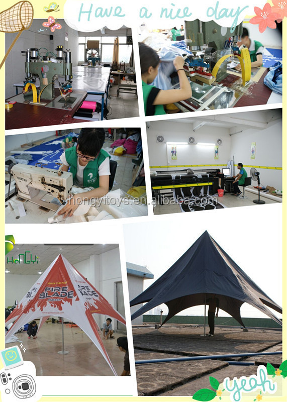 High Quality Red Bull Star Shaped Tent With Custom Made Printing For Display