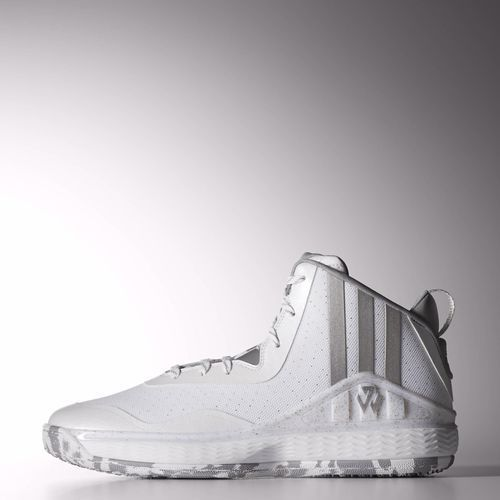 Adidas D68975 John Wall 1 Basketball Shoes White / Silver / Clear Grey