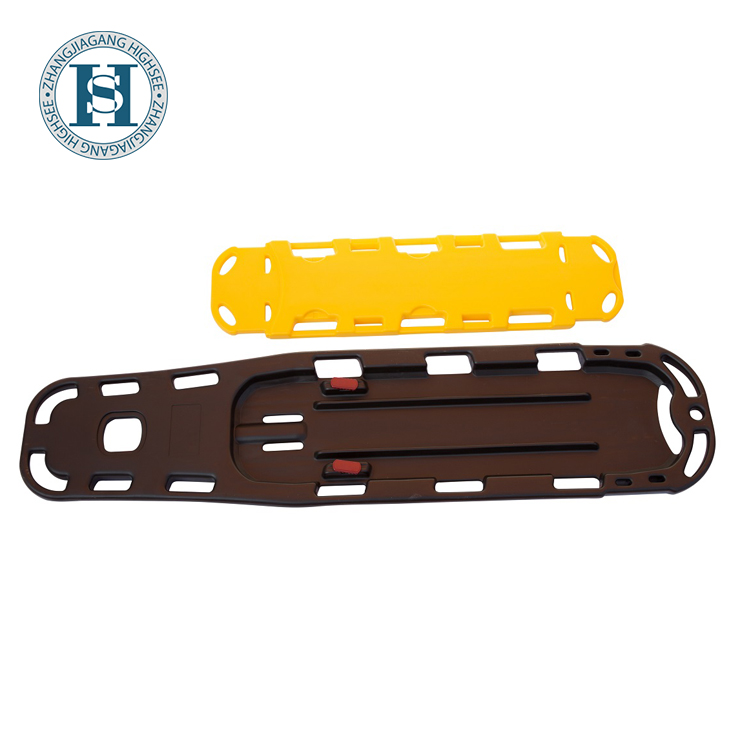 detachable hot selling classical HDPE plastic spine board with head immobilizer