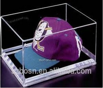 High transparent best price acrylic hat display stand with hat display stand for sale