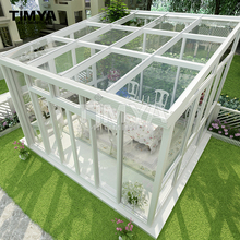 Aluminium insulate glass room/morden glass sunroom/commerial glass wintergarden