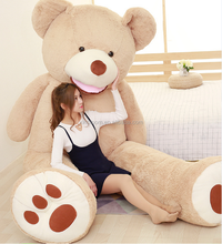 2017 new style hot-selling valentine birthday girls' present luxury 2.6m and 3.4m giant super large size <strong>plush</strong> brown teddy bear