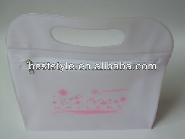hot sale plastic tote bag with zipper