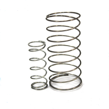 Automobile compression shock absorber coil spring, compression spring retainer
