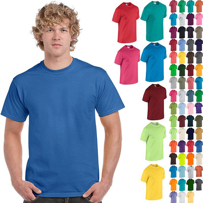 Plain Heavy 100 Cotton T shirts Short Sleeve Mens Plain T Shirts In Bulk Sales