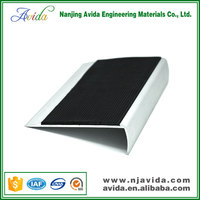 black pvc filler stair nose rubber stair treads