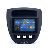 Double din rmvb mkv car dvd player android 4.4.4 gps 1080p video decoding radio for citroen c1/toyota aygo/peugeot 107