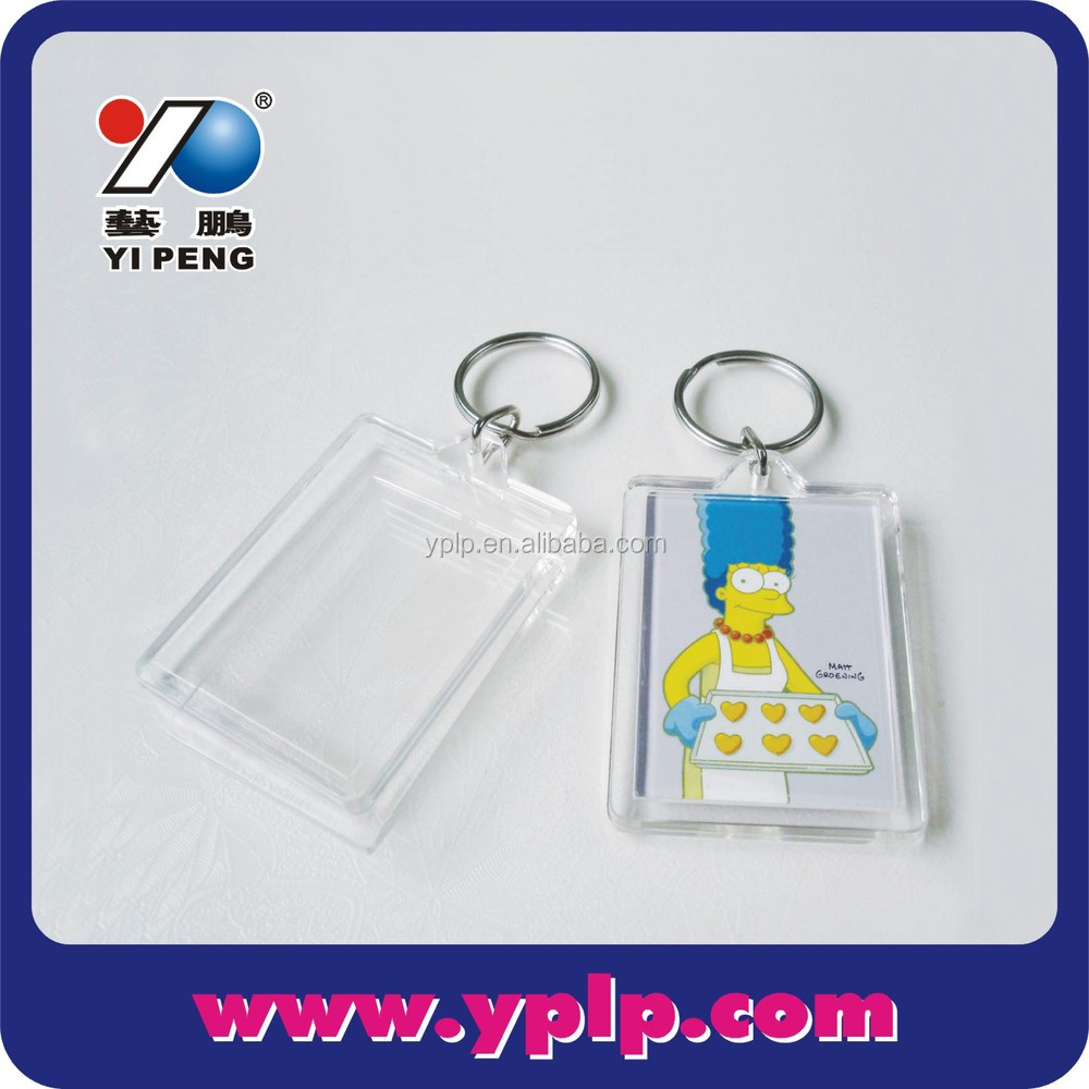 Blank Clear Acrylic Plastic Photo Insert Key Chains Keychain