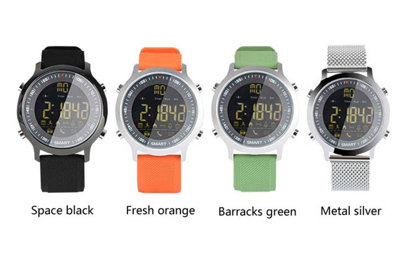 Bluetooth 4.0 Compatible with iOS Android Makibes EX18 Smart Watch