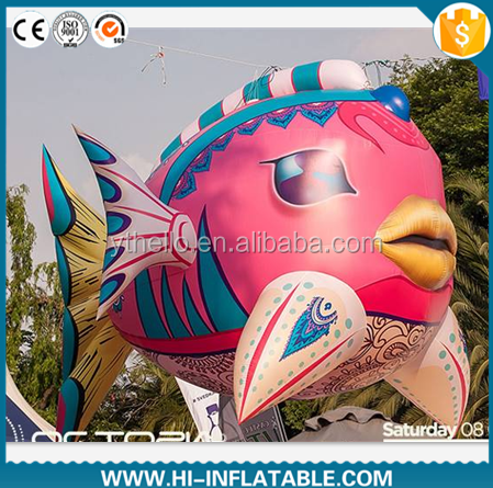 colourful inflatable fish model,giant inflatable fish sea animal model