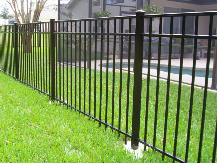 simple wrought iron fence. Fence5.jpg. PVC Coated Ornamental Wrought Iron Fence Features Simple T