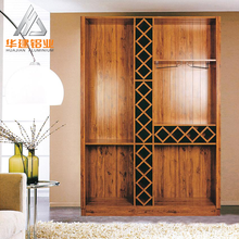 2017 wholesale new design High quality durable Aluminium metal modern Kitchen living room cabinet closet