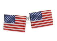 Cuff Links or Tie Clips Jewelry Flag of USA Custom American Flag Cufflinks