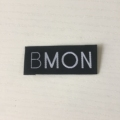 High density brand clothing accessory damask woven label