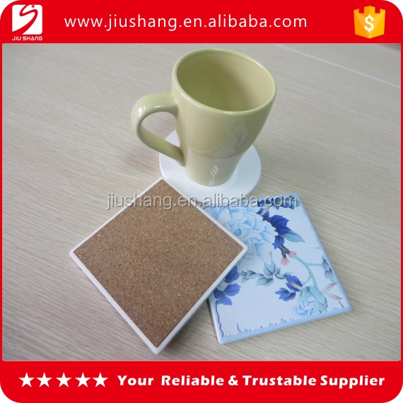 Hot sale cheap custom high-quality white water absorbent ceramic coaster
