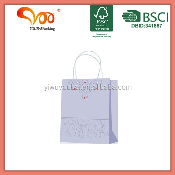 HANDMADE PAPER BAG WITH PLASTIC HANDLE