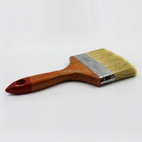 Bristle hair wooden handle Ceiling wall paint brush and cleaning brush