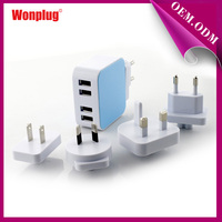 Newest Automatic usb multi Mobile Phone Charger with 4 USB Port for Samsung/Iphone6/Iphone Plus/Ipad