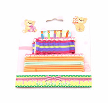 Birthday gifts cake style wholesale kids hair accessories baby headband and hair clips