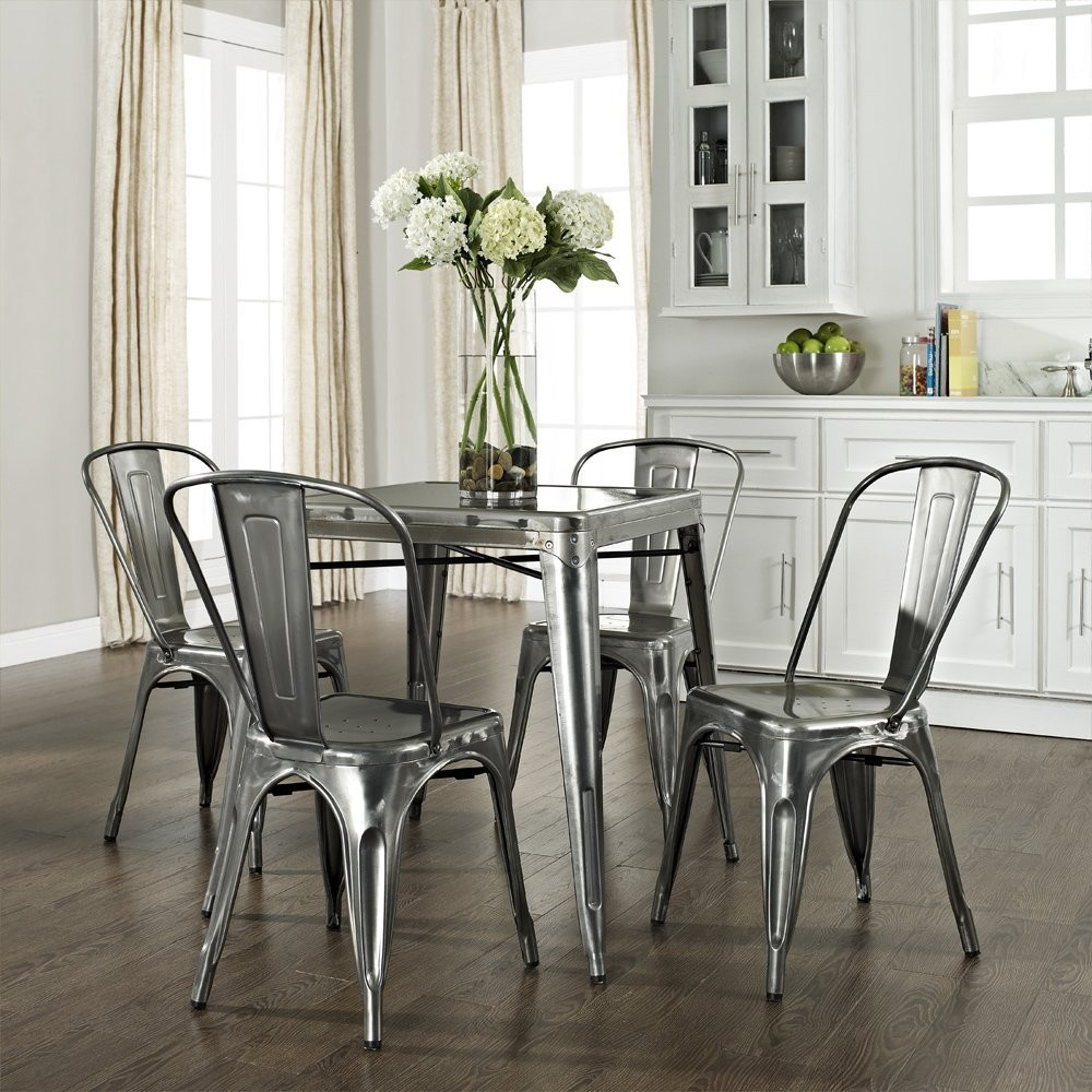 hot selling steel iron frame modern design vintage dining metal chair