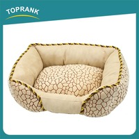 Toprank Familiar With ODM Factory Lovely Animal Crate Dog Bed Sofa Heated Dog Bed Large