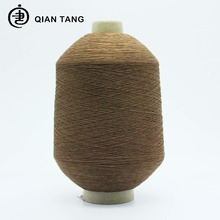 High quality 70/2 SD HIM dope dyed spun polyester high stretch polyesters yarn for Football sock