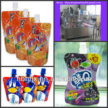 Suck jelly beverage drink doypack with spout bag/sache/pouch filling machine automatic screw cap