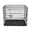 Large outdoor chain link plastic floor double pet dog kennel