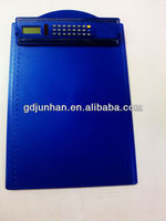 A4 size 8 digital dual power clipboard calculator