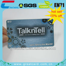 Scratch off layer International calling card for SG market