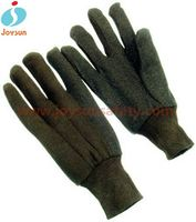 Good!High quaility brown jersey insulating rubber glove