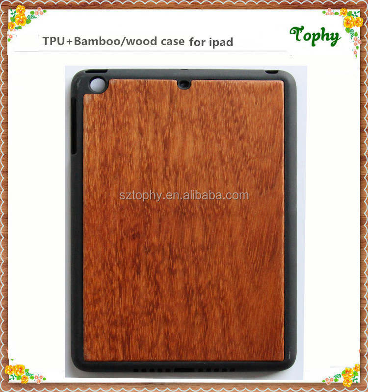 2016 new product for iPad Air 2 wood case, wooden skin for apple ipad air cover,for ipad air mini case real wood with good price