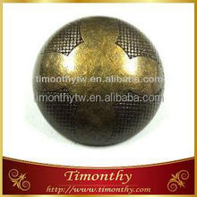 Fashion ABS antique brass shank ball button for coats