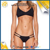 Comfortable summer beachwear black sexy top teen bikini models
