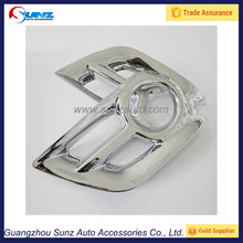 Hilux Vigo 2012 Fog Lamps Cover Chrome Light Trims For New Hilux 2014 Toyota Pickup 4x4 Accessories