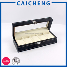 custom watch packaging cardboard display case with clear lid