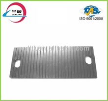 Non slip rubber pad for railway