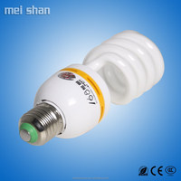 Low price fluorescent 9mm tube half spiral CFL energy saving lamp