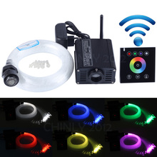 16W RGBW Led Engine With Black Wireless Wall Touch Controller+ 0.75mm*300pcs*2m Optical Fiber Cable Kit For Star Sky Ceiling