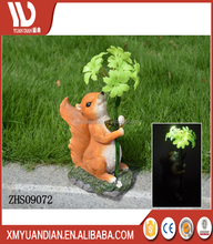 Vivid Fox Statue Garden Decor Solar Powered Polyester Resin flatback mermaid resin