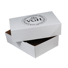 Wax dipped corrugated carton paper box for frozen meats packaging and shipping