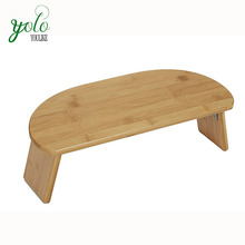 Portable Design Bamboo Ergonomic Meditation Bench with Folding Legs