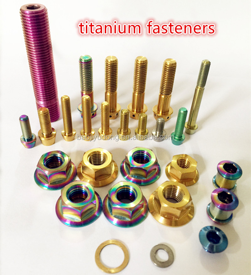 gr2 gr5 titanium nuts and bolts colorful titanium screw