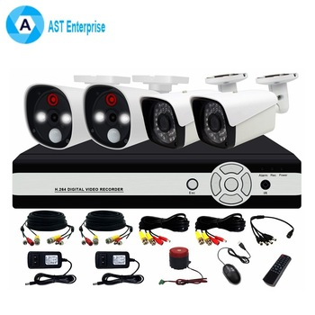 960P HD Outdoor IR Night Vision Home Surveillance Security IP Camera network CCTV System 4CH NVR Kit