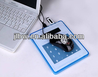 USB Calculator/Mouse Pad Solar calculator with scale/mini calculator with colorful button