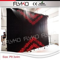 You tube sexy video flexible christmas led video curtain backdrop decoration