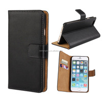 Factory Price Genuine Wallet Flip Leather Phone Case for iphone 6S